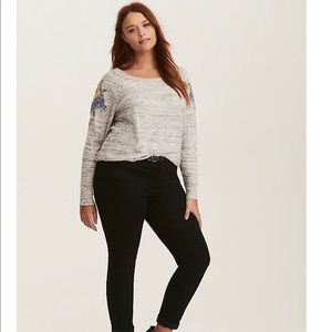 Torrid Spacedye Knit Embroidered Sweater